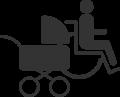 Logo Beförderung von Personen im Rollstuhl und von Kleinkinder im Kinderwagen